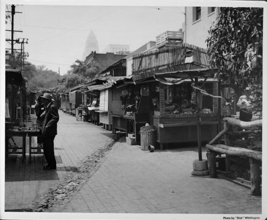 Olvera Street, looking toward City Hall