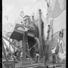 Christmas display at station on Wilshire Boulevard and South Catalina Street, Shell Oil Co., Los Angeles, CA, 1930