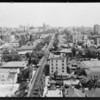 East & west views of city from Wilshire Medical Building, Southern California, 1929