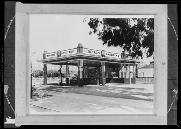 Liberty Gasoline service stations, Southern California, 1931