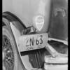 Tail lamp on DeSoto car, Southern California, 1930