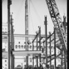 California Club under construction & views of 6th Street from new Richfield Building, Los Angeles, CA, 1929