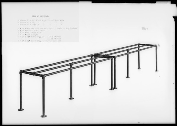 Display rack, Pennzoil Co., Southern California, 1931