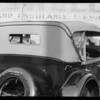 Ford touring car top, La Salle & leather containers for license, order etc., National Auto Top, Southern California, 1930