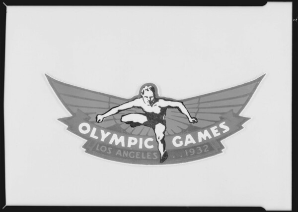 Olympic games sticker, Southern California, 1930