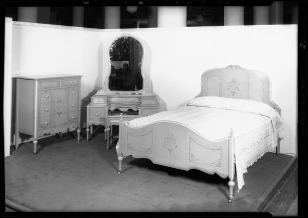 Bedroom furniture, May Co., Southern California, 1931