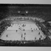 Los Angeles Sports Arena, interior view, Memorial Day dedication ceremony, hockey game demonstration