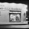 Showing sign in radio store at Figueroa Street and Vernon, Los Angeles, CA, 1929