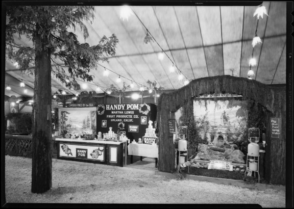 Martha Lewis 'Handy Pom' booth, Southern California, 1930