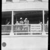 Joe and Eva leaving on boat S.S. Harvard, Southern California, 1929