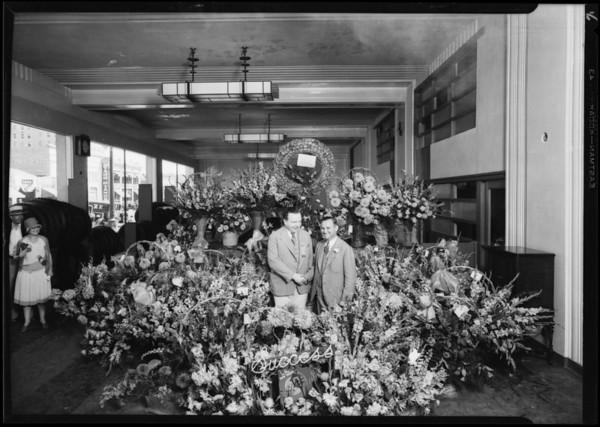 Opening of new store, Southern California, 1929
