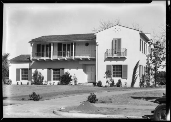 House on Waverly Road, San Marino, CA, 1931