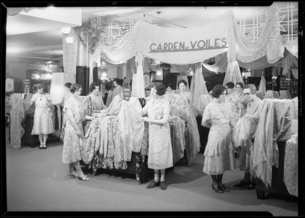 Voile department, Broadway Department Store, Los Angeles, CA, 1931