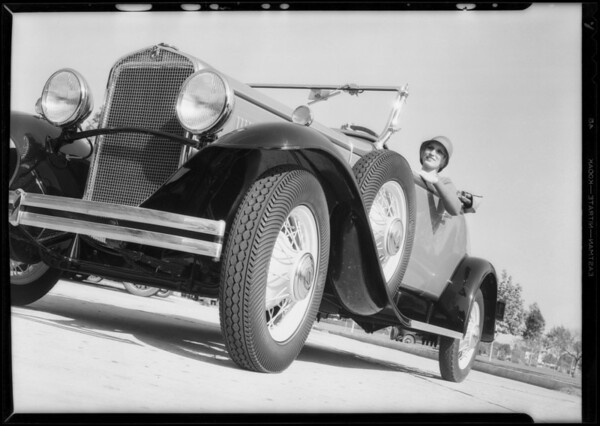 Car for composites, Western Auto Supply, Southern California, 1931