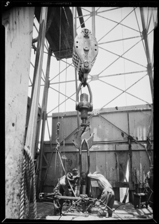 Shell deepest well in world at Signal Hill, CA, 1929