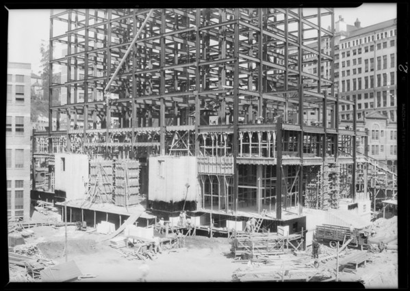 State Building progress, Los Angeles, CA, 1931