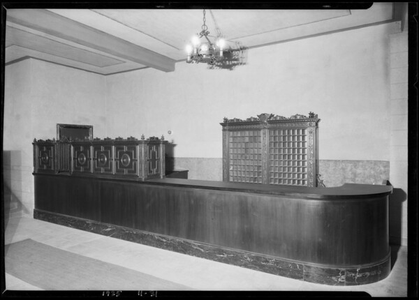 Fixtures in Edgewater Club, Santa Monica, CA, 1925