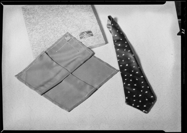 Gift articles for Christmas folder, The Broadway department store, Southern California, 1930