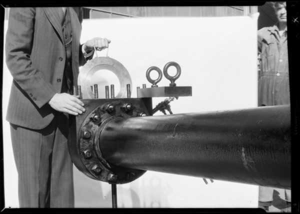 Gas odorizer & gas flow measuring device, Southern California, 1931