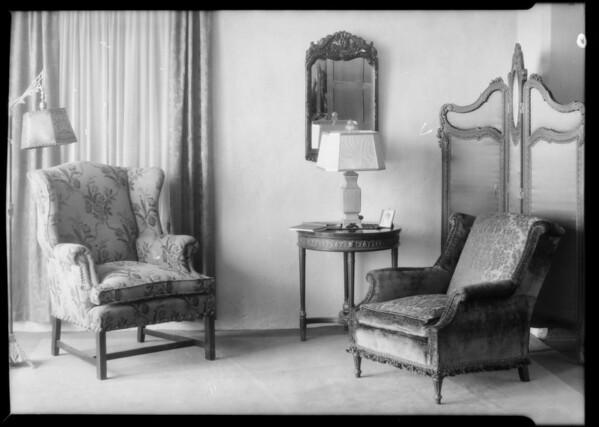 Furniture & radio shots, Southern California, 1929