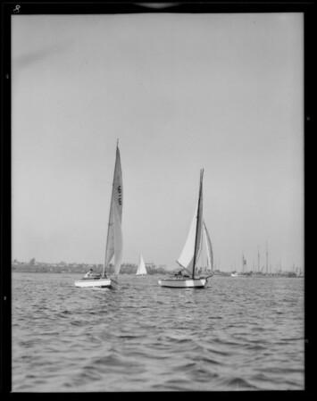 Boat racing at Cabrillo Beach, Los Angeles, CA, 1931