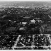 Aerial view facing north over the Huntington Library and Art Gallery in San Marino