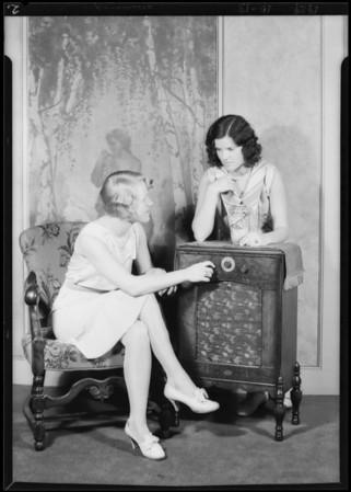 Rola radio publicity shots, Southern California, 1929