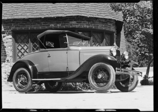 Ford for composite, Southern California, 1931