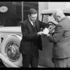 Marmon and Auburn signing Pennzoil guarantee, Southern California, 1931