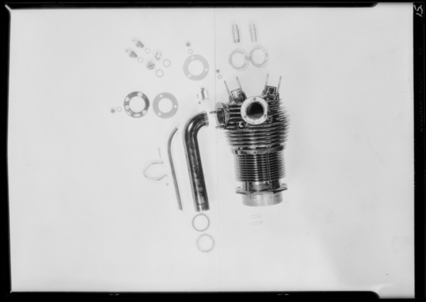 Parts of motor for catalogue, Southern California, 1929
