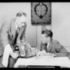 Jeffries & McKlean at table in studio, Southern California, 1929