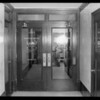 Doors of office, 13th floor, Foreman Building, Southern California, 1929