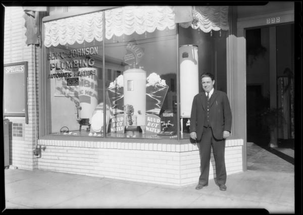 Plumbing shop at 330 North Western Avenue, Los Angeles, CA, 1930