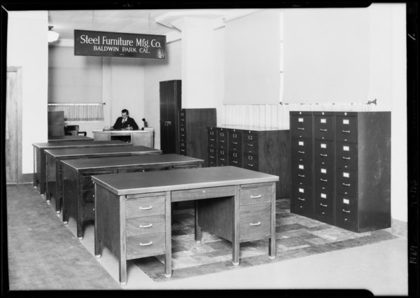 Desks, cabinets, etc., Southern California, 1929