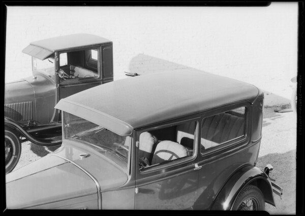"""Top"" of Ford coach, National Auto Top Co., Southern California, 1930"