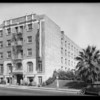 Exterior of hotel building, for Mr. Carey, 420 South Westlake Avenue, Los Angeles, CA, 1929