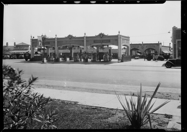 Muller service station, Firestone Tire & Rubber Co., Southern California, 1931