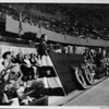 Los Angeles Memorial Sports Arena, interior view, Memorial Day dedication ceremony, Richard Nixon at podium