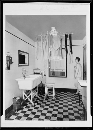 Clothes dryer, Southern California, 1931