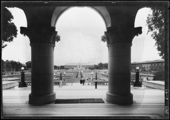 Sunken Gardens at Exposition Park, Los Angeles, CA, 1929