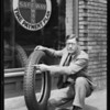 Man & tire, checks & contracts, Southern California, 1929