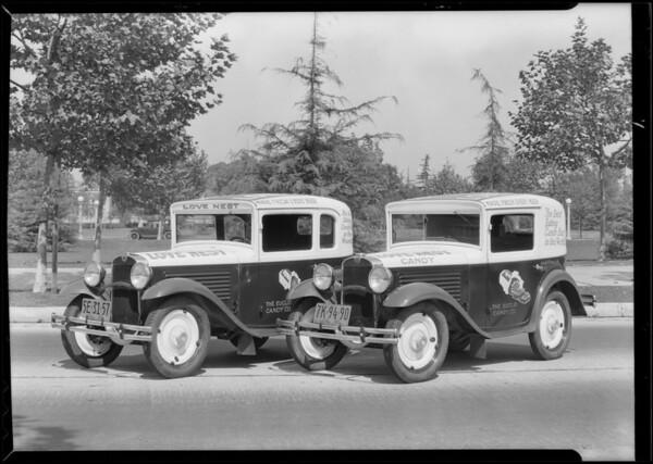 Love Nest Candy bar cars, Southern California, 1930