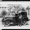 Al Jolson with Austin car, Southern California, 1930