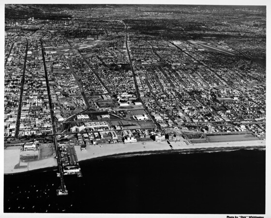 Aerial view of the Santa Monica Pier