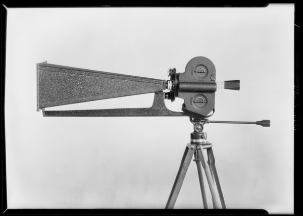 Professional attachments for amateur movie cameras,  Southern California, 1929