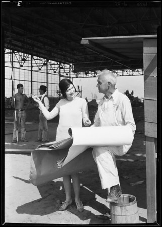 Boeing airport & Metropolitan airport [Van Nuys Airport], Patricia O'Grady, Los Angeles, CA, 1929