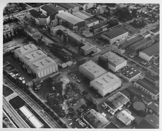 Aerial view of the 20th Century Fox Studios