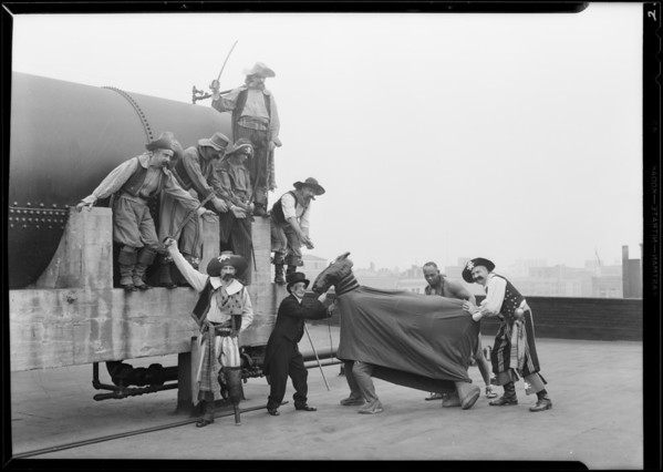 Spark Plug & men, Southern California, 1930