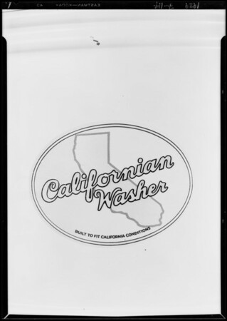Thor Washer & closeup of label, Southern California, 1929