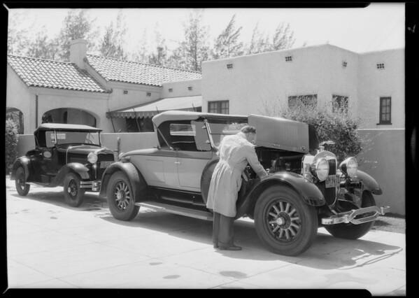 Service man on the job, Southern California, 1930